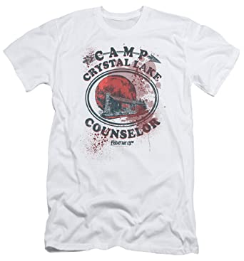 9dcb0451769e A E Designs Friday The 13TH Camp Crystal Lake Counselor Victim Slim Fit T- Shirt