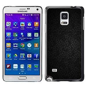 MOBMART Carcasa Funda Case Cover Armor Shell PARA Samsung Galaxy Note 4 - Dark Floral Outline