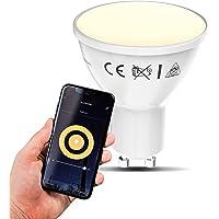 B.K.Licht I smart lamp I smart light I LED WiFi lamp I GU10 lichtbron I warm wit licht I voice control I bulb I slimme…