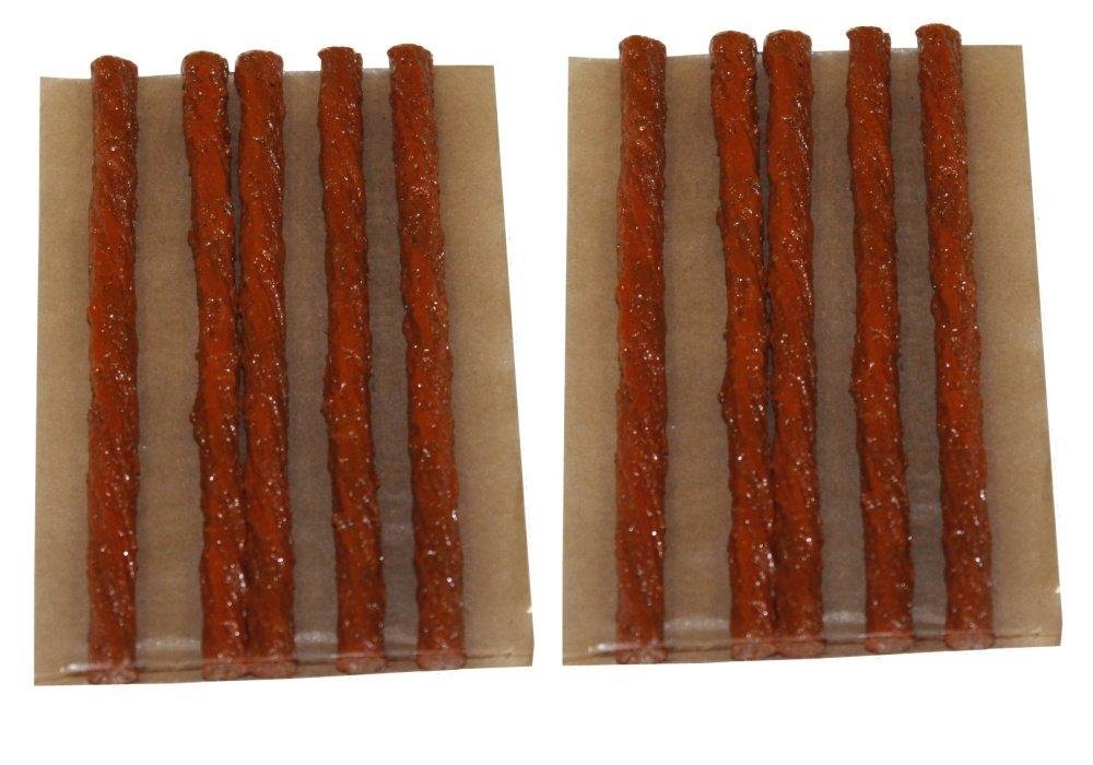 Aerzetix: Lot de 10 mèches longues 10cm pour kit de réparation de pneu voiture auto moto - C1648