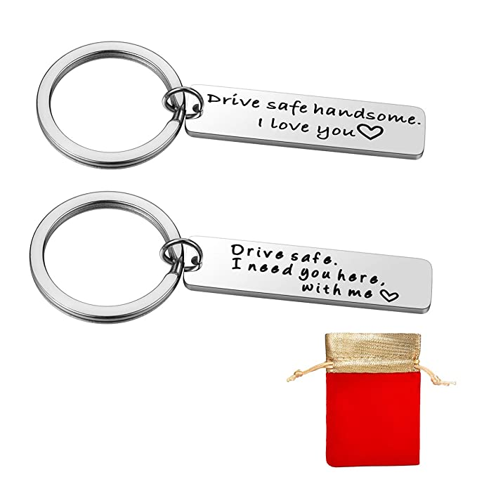 Amazon com: 2 PCs Drive Safe Keychain I Need You Here With