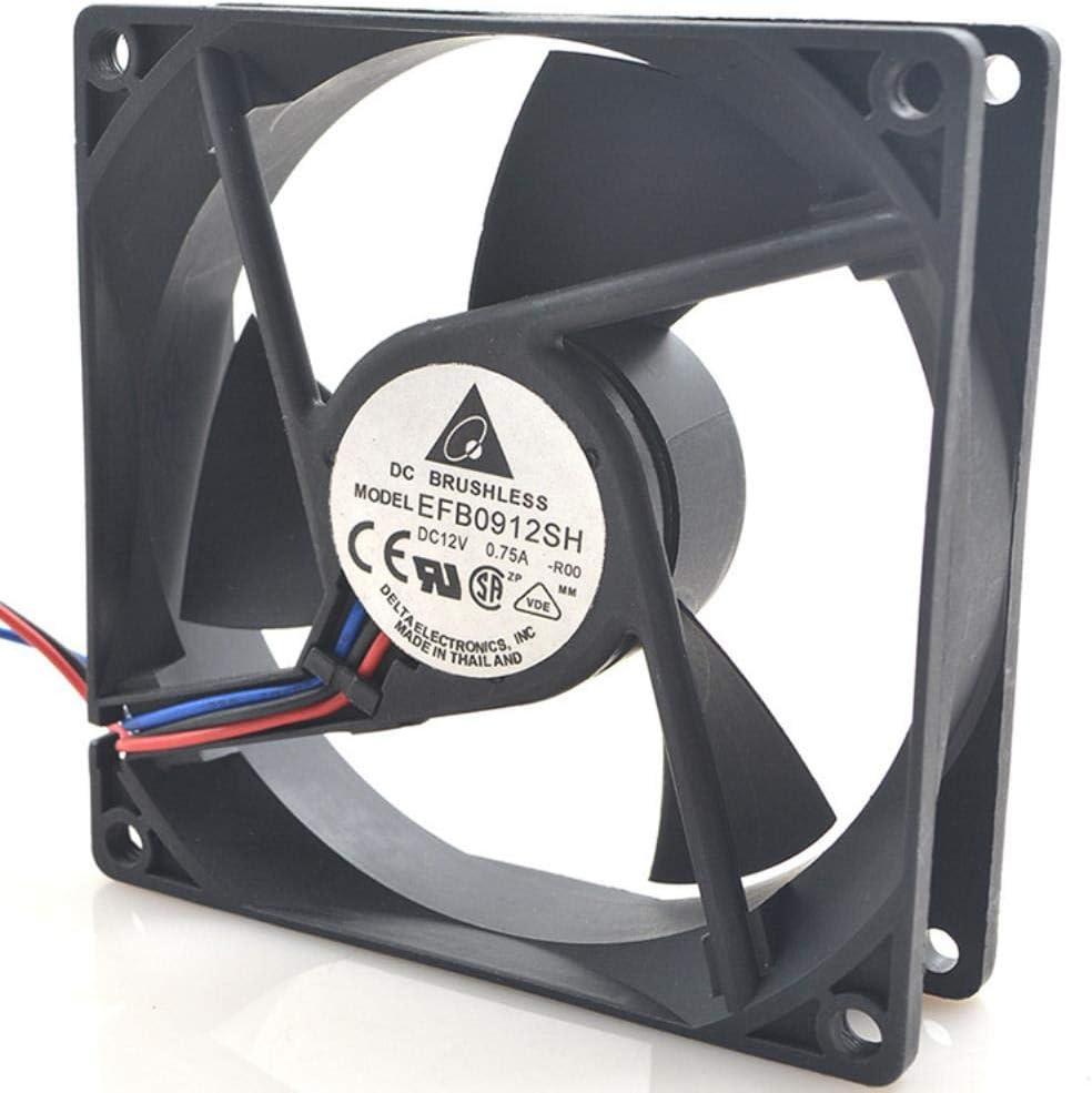for Delta EFB0912SH 90259CM 12V 0.75A Double Ball 3-Line Server High Volume Fan