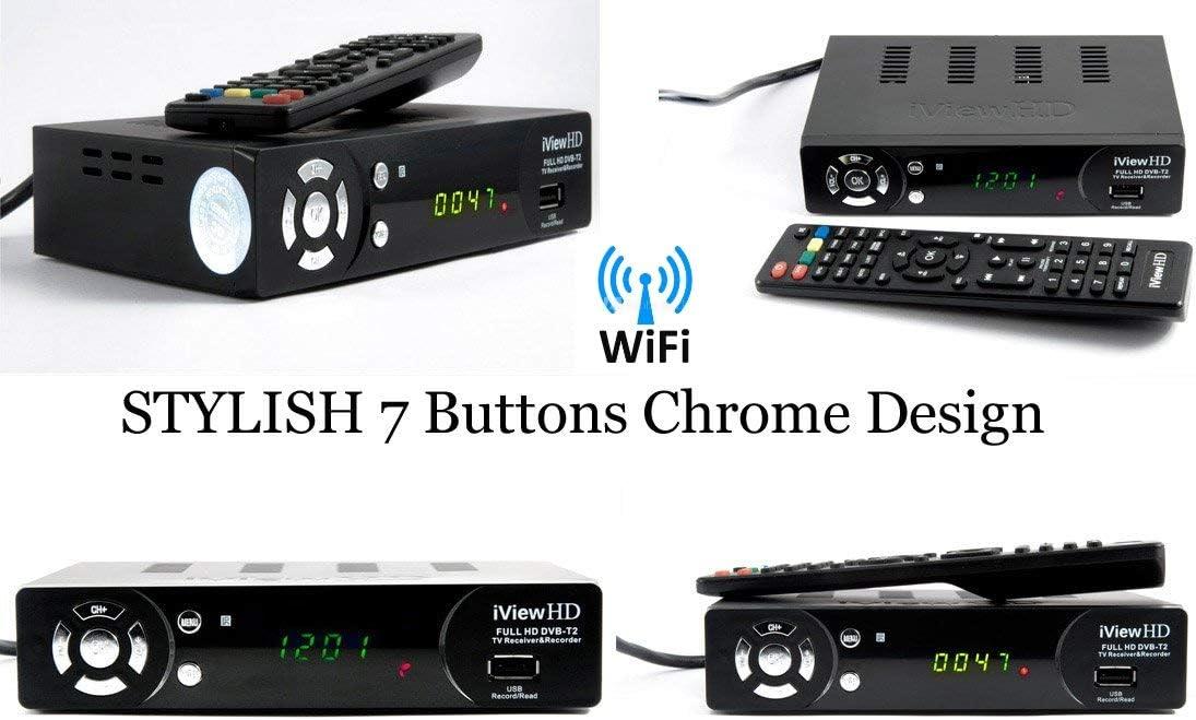 iView HD+ 4in1 Freeview HD Built in WiFi Receiver /& USB HD Recorder FULL HD 1080P DIGITAL TV Set Top Box Terrestrial Tuner DVB-T2 Multi Media Player Wifi Apps inside