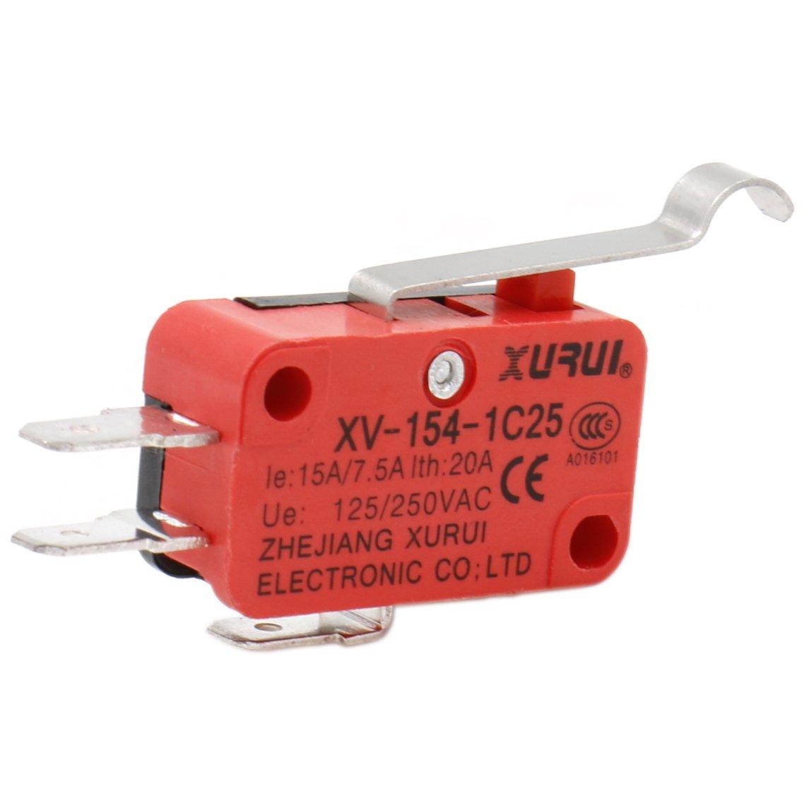 heschen Micro interruptor V-154/ /1/C25/SPDT manivela tipo 20/A 250/VAC 2/unidades