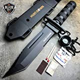 Smol Store 12″ Tactical TANTO Hunting Rambo Fixed Blade Knife Machete Bowie + Survival KIT Review