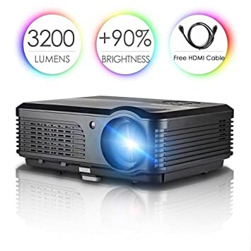Proyector LCD, LED Proyector con 2500lumen 1024 * 600 Resolución ...