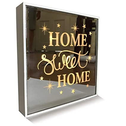 taille 40 le dernier emballage fort KINIA ❤️ Home Sweet Home ❤️ Light Up LED Marquee Wall Hanging Decor Plaque  Mirror Sign