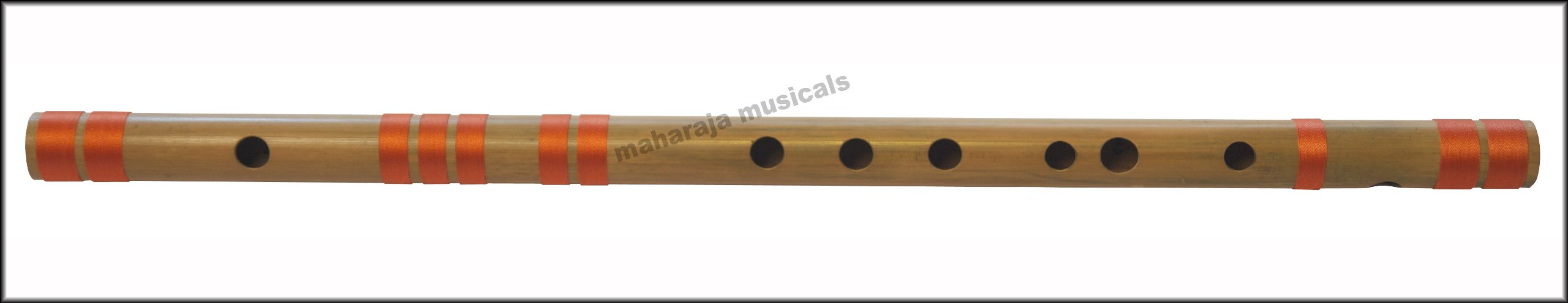 Bansuri, Scale C Natural Medium 19 Inches, Maharaja Musicals, Accurately Tuned, Recommended for Beginners, Hindustani Professional Bansuri Indian Flute, Nylon Pipe Bag Included (PDI-CEH)