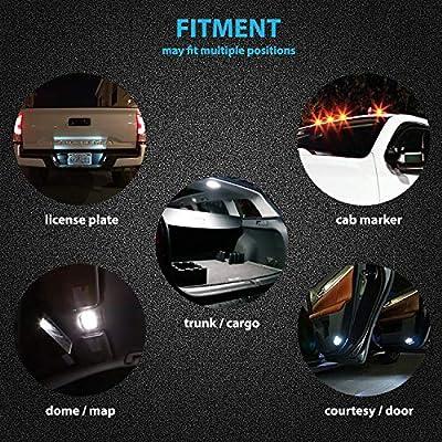 LED Monster 20-Pack COLOR LED Light Bulbs RV Trailer 24-SMD T10 921 194 168 2825 12V Backup Reverse Interior Side Trailer