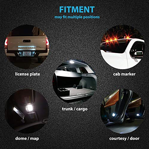 LED Monster 10pcs LED Interior Car Lights For Dome Map Door Courtesy License Plate - Direct Fit For T10 2825 194 168 W5W - Super Bright White