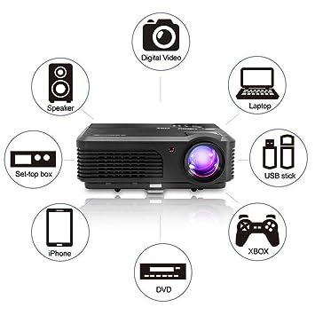 Proyector Cine en Casa,CAIWEI Mini Proyector Portátil HD LED ...