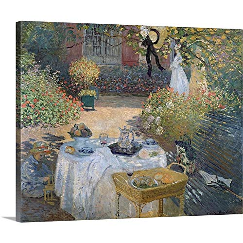 - The Luncheon: Monets Garden at Argenteuil, c.1873 Canvas Wall Art Print, 20