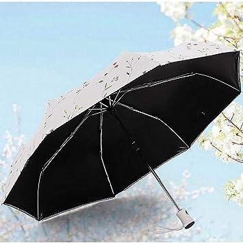 JU Sombrilla Plegable automática Paraguas para Mujer Sombrilla Anti vinílica antiuso para Uso en Sol para