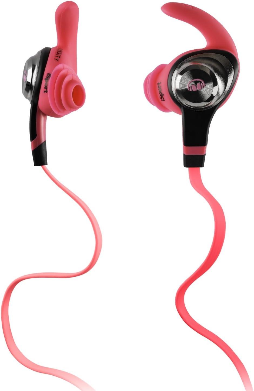 Monster iSport Intensity In-Ear Sport Headphones, Neon Pink, Running, Sweatproof