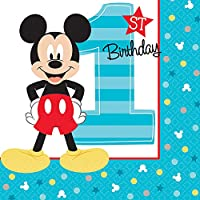 Mickey Fun To Be One Beverage Napkins (16 ct)