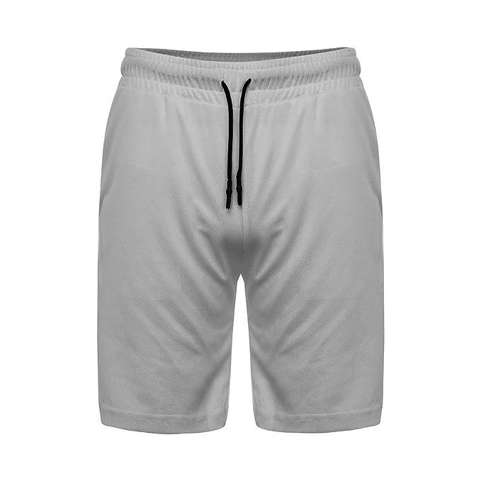 Herren Jogging Shorts Kurze Sweat Pants Hose Kordelzug Sport Jogger Sommer Dünne