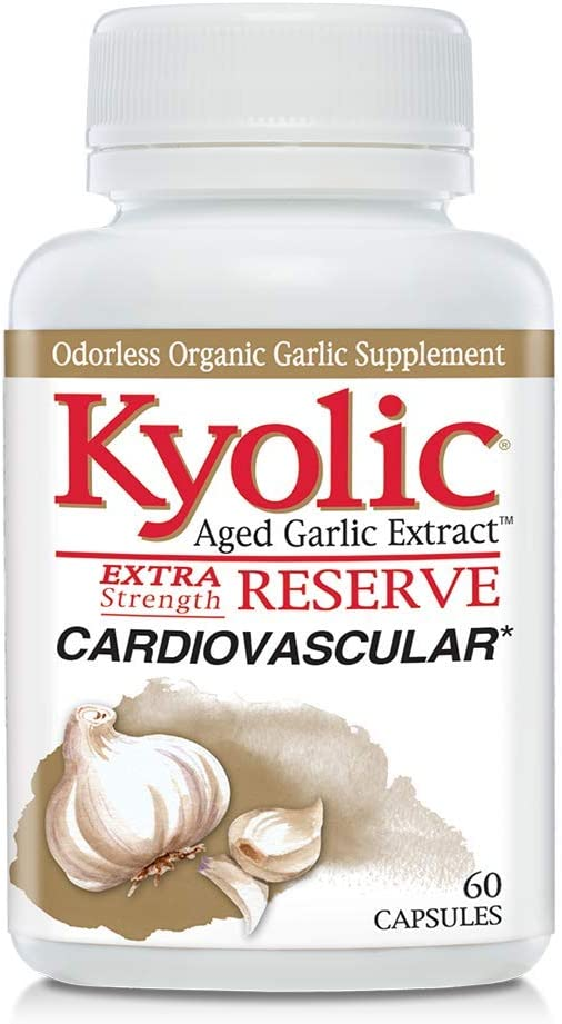 Kyolic Aged Garlic Extract Reserve Cardiovascular Supplement, 60 Capsules