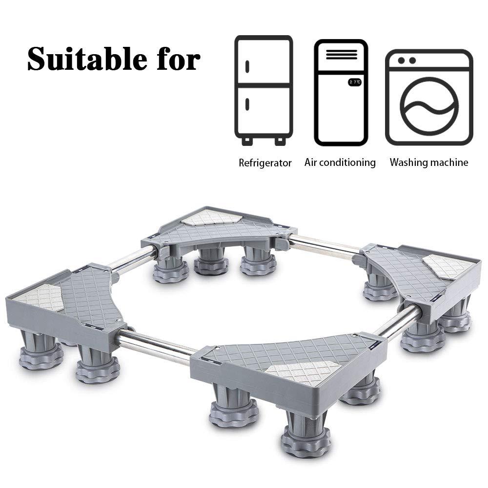 Soporte m/óvil universal ajustable para secadora lavadora y refrigerador gris SMONTER 12 pies