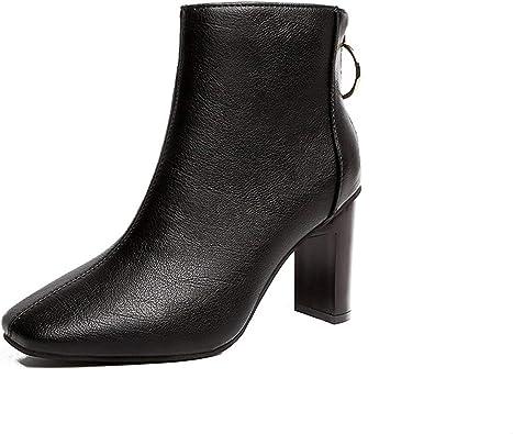 Amazon.com   Leather Boots Square Head