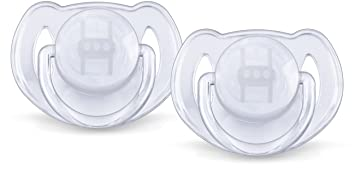 Philips Avent Orthodontic Pacifier, 6-18 Months, Translucent Colors SCF170/22, Colors May Vary