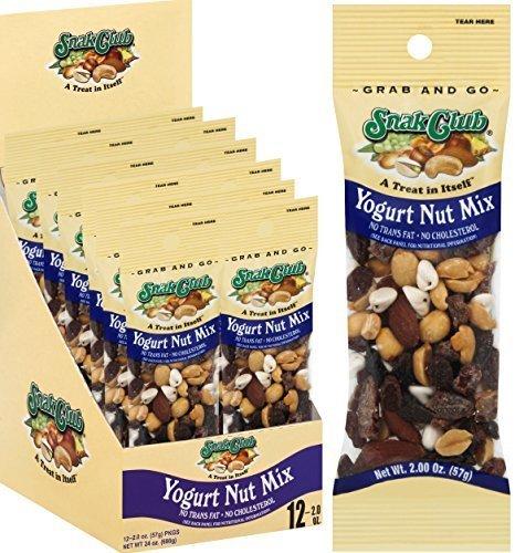 (Grab & Go Yogurt Nut Trail Mix 2 oz. / 12 ct., Salty Snacks by Snak Club)