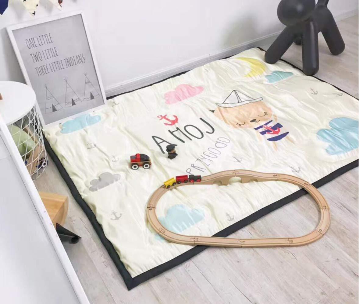 QXMEI Children Crawling Mats Cotton Ice Silk Simple Cartoon Carpet Game Pad by QXMEI (Image #6)