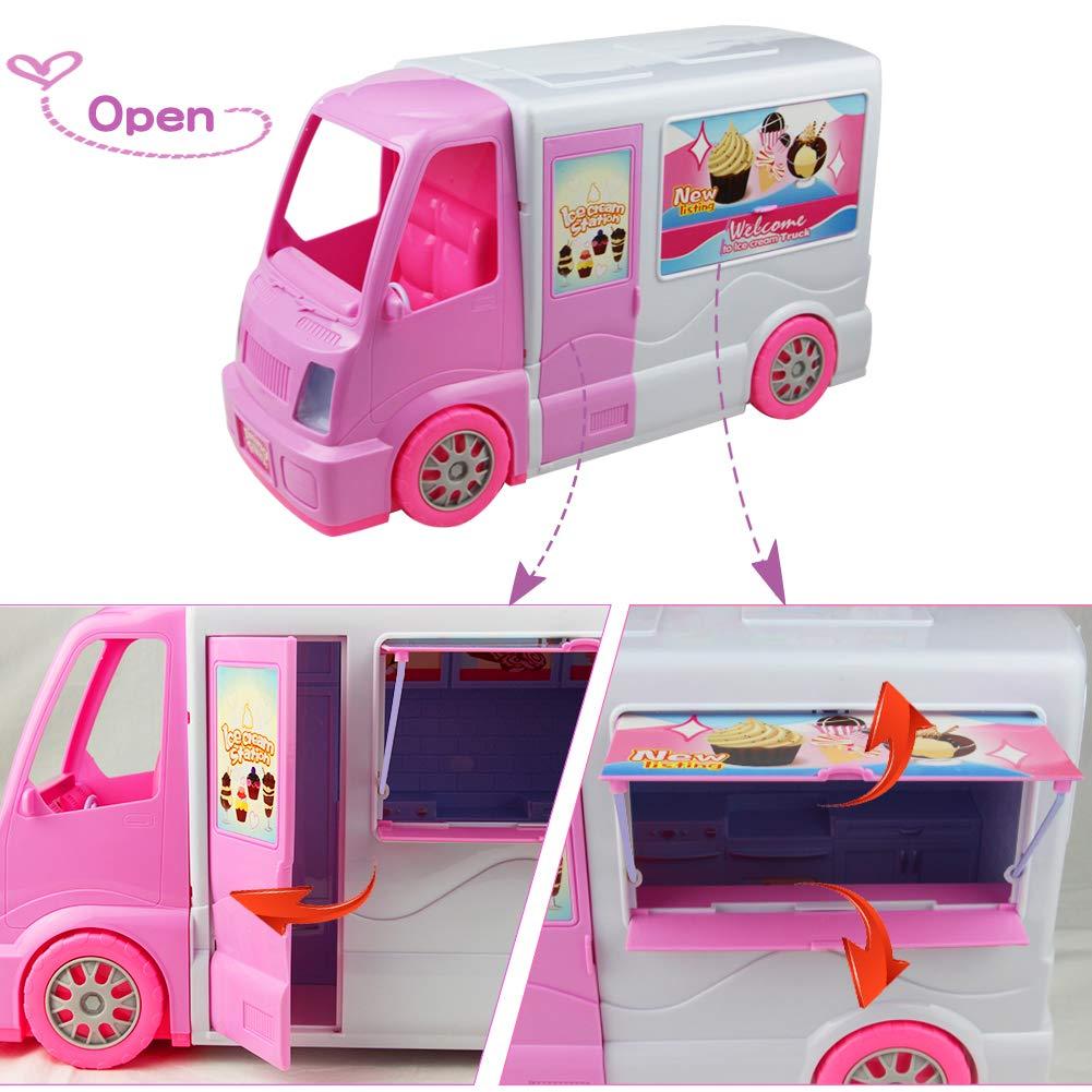 P.M Rollenspiel Eiscreme Einkaufen Set Dessert Pretend Play Küche Lebensmittel Spielzeug für Kleinkind Mädchen 3 Jahre