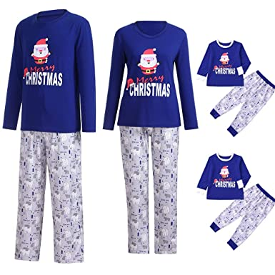 81425f1415 GzxtLTX Christmas Family Matching Pajama Set with Baby Daddy Mommy and Me  Santa Claus Printed Sleepwear