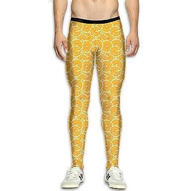 3c9aded7d4cc3 Amazon.com: NKUANYJYDKN7 Men's Oranges Pattern Yoga Pants Sports ...