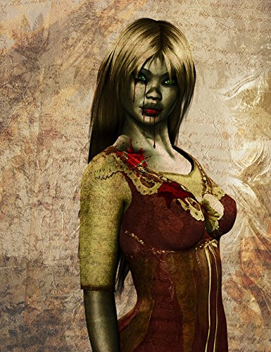 LAMINATED 24x31 inches POSTER: Woman Zombie Halloween Blood Evil Horror Girl Scary Dead Spooky Creepy Death Face Fear Female Make-Up Frightening Thriller Cinema Undead Terrible -