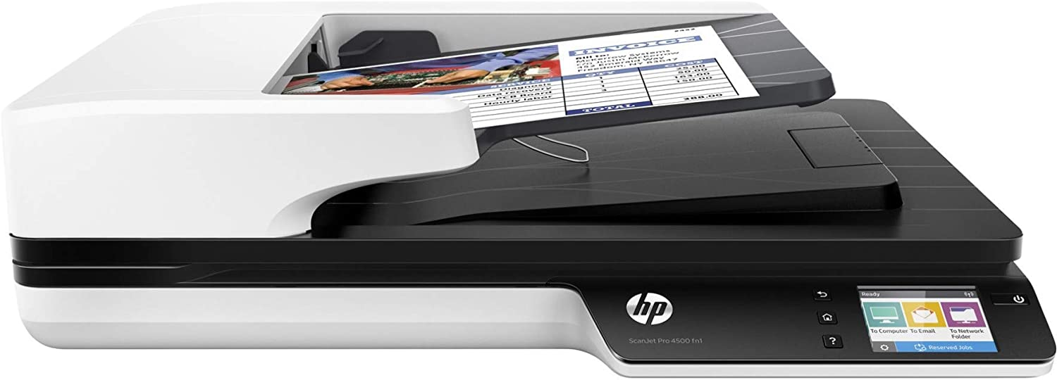 HP ipg Les Commercial Scanner (4 Scanjet Pro 4500 Fn1 30 ppm wifi (Renewed)