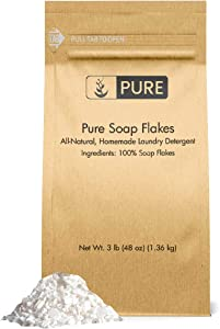 Soap Granule Flakes (3 lb.) by Pure Organic Ingredients, Eco-Friendly Packaging, Ingredient to Make Liquid or Powdered Homemade Laundry Detergent