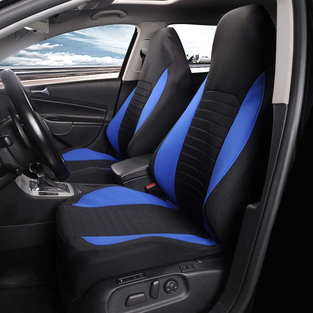 AUTOFAN Cloth Fabric Front Driver Car Seat Covers Bucket Seat Covers Universal Non-Slip Auto Car Seat Protector for 95/% Car Seats