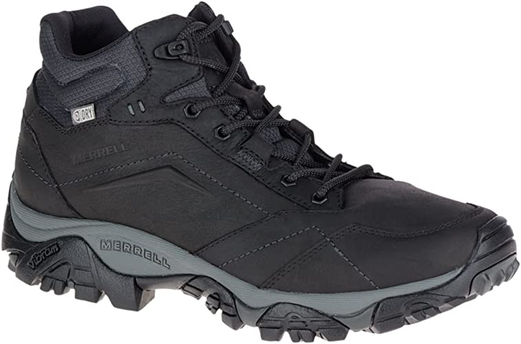 Merrell Mens Moab Venture Lace Waterproof Shoes Black Sports Outdoors Breathable