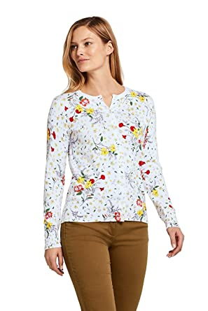 4aeecc3f3ee Amazon.com: Lands' End Women's Supima Cotton Cardigan Sweater: Clothing