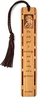 product image for Personalized Socrates Knowledge Quote, Engraved Wooden Bookmark with Tassel - Search B074WFFS8S for Non-Personalized Version