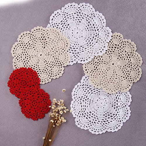 Crochet Doilies (Artwork Crochet Lace Doilies Table Placemats 8