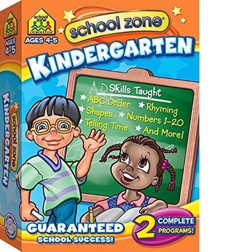 SCHOOL ZONE KINDERGARTEN SOFTWARE (WIN XPVISTAWIN 7/MAC OS X10.6 OR LATER)