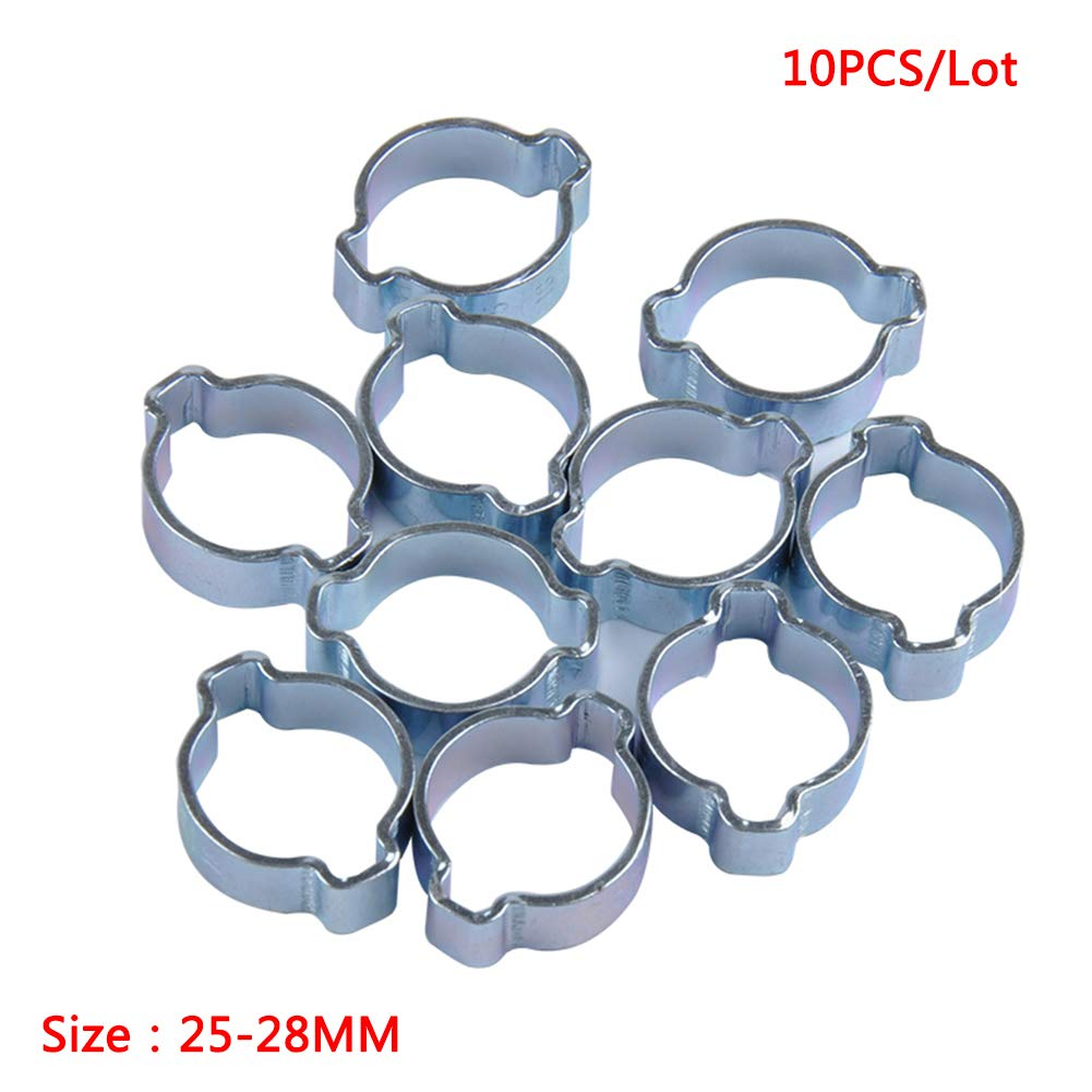 Alician 10pcs//Set Galvanized Double Ear Clamp Fuel Hose Clamp 5-31mm 11-13MM A1799-04