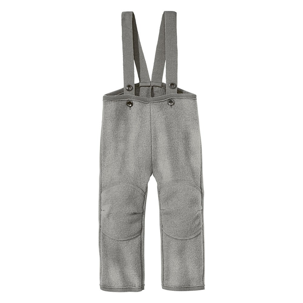 Disana Little Boys' Dungarees/ Trousers In Organic Boiled Merino Wool 110/116 4-6Y Grey