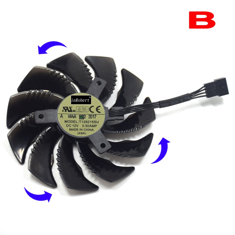 Ventilador Para Gigabyte Gtx 1050 480 470 570 580 1060 Fan-b