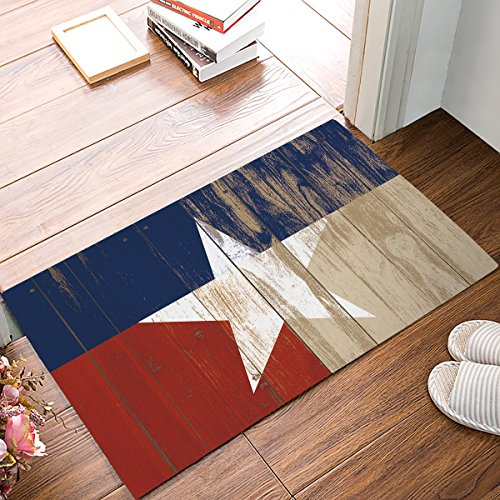 Non-Slip Washable Welcome Mat Front Porch Entrance Shoe Scraper Absorbent Decor Office Hall Entry Floor Mat Inside Bedroom Carpet Home Kitchen Rug 32 x 20 Western Texas ()