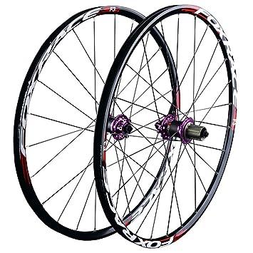 ZNND 26 Pulgadas Carretera Bicicleta Rueda, Double Wall V-Brake Ultra-Ligeras 24 Agujeros Pared MTB Rim para 8/9/10/11 Velocidad: Amazon.es: Deportes y aire ...