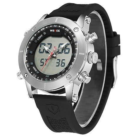 SPORTWATCHES Relojes Hermosos, Reloj Multifuncional de Cuarzo con Pantalla táctil Digital de Doble Pantalla para