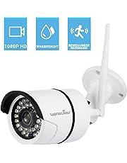Wansview WLAN IP Kamera, Sicherheitskamera 1080P HD für Außen/IP cam mit LAN & WLAN Verbindung/Outdoor IP66 wasserdichte Netzwerkkamera, Infrarot Nachtsicht, deutsche App/Anleitung/Support (Weiß)