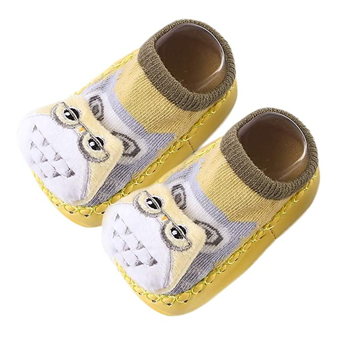 ❤ Zapatos para bebé Primer Paso, Niños Infantil Niño Bebé Niñas Animales de Dibujos Animados Antideslizante Calcetines de Punto de Calor Absolute: ...