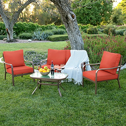 Best Choice Products 4-Piece Cushioned Patio Furniture