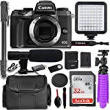 Canon EOS M5 Mirrorless Digital Camera (Body Only) + Professional Video Kit with 32GB Memory, Monopod, Spider Tripod, Gadget Bag & More.