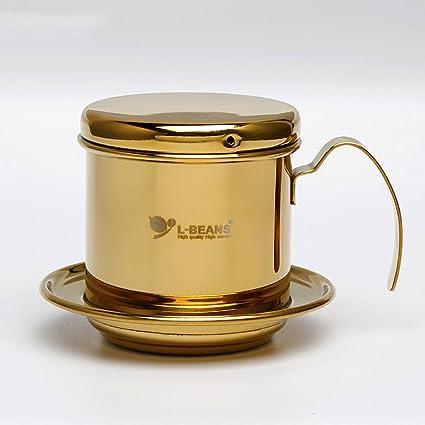 Cafetera eléctrica – Olla, acero inoxidable vietnamita clásico café Drip filtro Maker 1 taza de