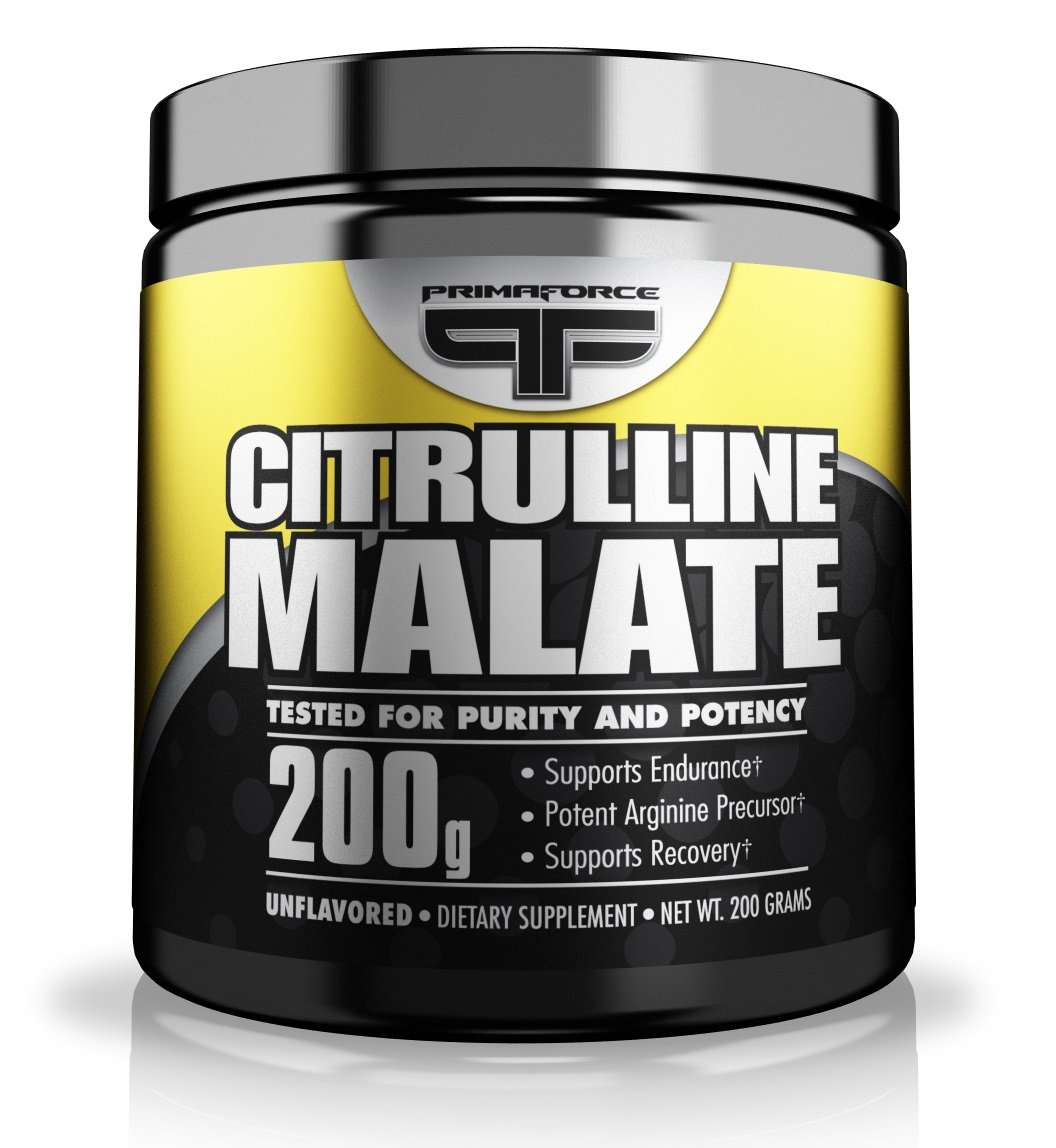PrimaForce Citrulline Malate Powder Supplement – Enhances Strength Performance / Improves Muscle Recovery - 200 Grams